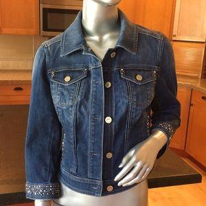 WHBM embellished denim jacket